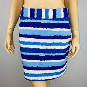 Vineyard Vines Blue Striped Pencil Skirt 2